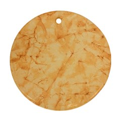 Marble Light Tan Round Ornament (two Sides)  by trendistuff