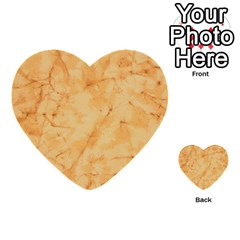 Marble Light Tan Multi Purpose Cards (heart)  by trendistuff