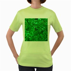 Marble Green Women s Green T Shirt by trendistuff