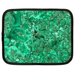 Marble Green Netbook Case (xl)  by trendistuff