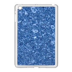 Marble Blue Apple Ipad Mini Case (white) by trendistuff