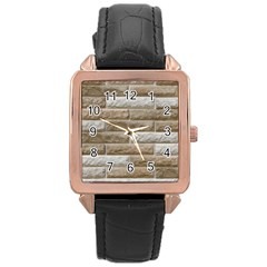 Light Brick Wall Rose Gold Watches by trendistuff