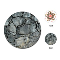 Grey Stone Pile Playing Cards (round)  by trendistuff