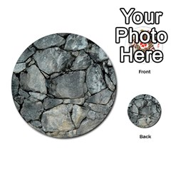 Grey Stone Pile Multi Purpose Cards (round)