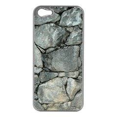 Grey Stone Pile Apple Iphone 5 Case (silver) by trendistuff