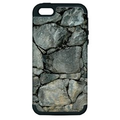 Grey Stone Pile Apple Iphone 5 Hardshell Case (pc+silicone) by trendistuff