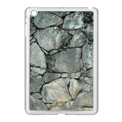 Grey Stone Pile Apple Ipad Mini Case (white) by trendistuff