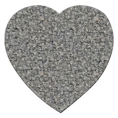 Grey Marble Jigsaw Puzzle (heart) by trendistuff