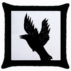 Crow Throw Pillow Cases (black) by JDDesigns