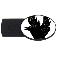Crow Usb Flash Drive Oval (2 Gb)  by JDDesigns