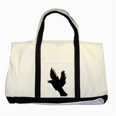 Crow Two Tone Tote Bag  by JDDesigns