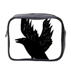 Crow Mini Toiletries Bag 2 Side by JDDesigns