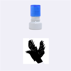 Crow Rubber Round Stamps (small) by JDDesigns