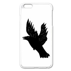 Crow Apple Iphone 6 Plus/6s Plus Enamel White Case by JDDesigns