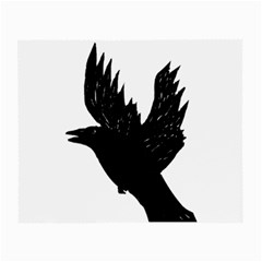 Hovering Crow Small Glasses Cloth by JDDesigns