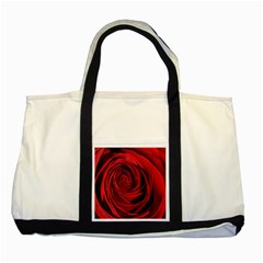 Beautifully Red Two Tone Tote Bag  by timelessartoncanvas