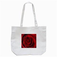 Beautifully Red Tote Bag (white)  by timelessartoncanvas