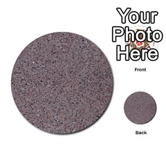 Granite Red Grey Multi Purpose Cards (round)