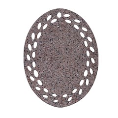Granite Red Grey Oval Filigree Ornament (2 Side)  by trendistuff