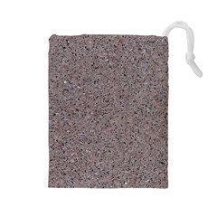 Granite Red Grey Drawstring Pouches (large)  by trendistuff