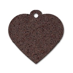 Granite Red Brown Dog Tag Heart (two Sides) by trendistuff
