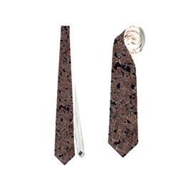 Granite Red Brown Neckties (one Side)