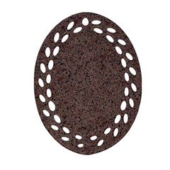 Granite Red Brown Oval Filigree Ornament (2 Side)  by trendistuff