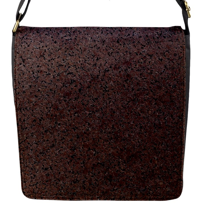 GRANITE RED-BROWN Flap Messenger Bag (S)
