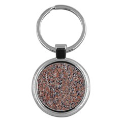 Granite Red Black Key Chains (round)  by trendistuff