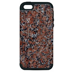 Granite Red Black Apple Iphone 5 Hardshell Case (pc+silicone) by trendistuff
