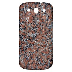 Granite Red Black Samsung Galaxy S3 S Iii Classic Hardshell Back Case by trendistuff
