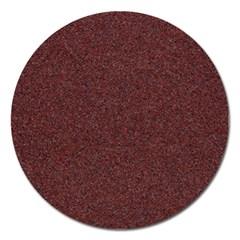 Granite Red 1 Magnet 5  (round) by trendistuff