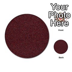 Granite Red 1 Multi Purpose Cards (round)  by trendistuff