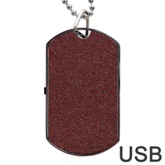 Granite Red 1 Dog Tag Usb Flash (one Side) by trendistuff