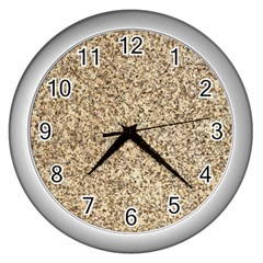 Granite Brown 3 Wall Clocks (silver)  by trendistuff