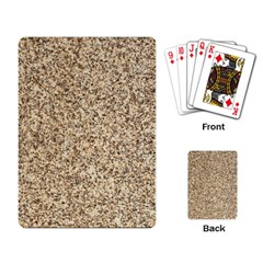 Granite Brown 3 Playing Card by trendistuff