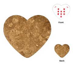 Granite Brown 1 Playing Cards (heart)  by trendistuff