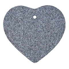 Granite Blue Grey Ornament (heart)  by trendistuff