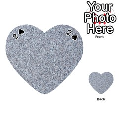 Granite Blue Grey Playing Cards 54 (heart)