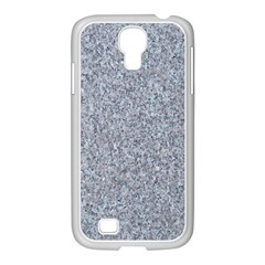 Granite Blue Grey Samsung Galaxy S4 I9500/ I9505 Case (white) by trendistuff