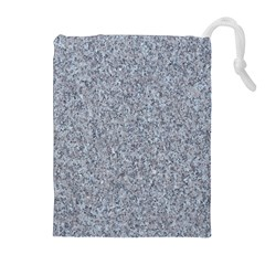 Granite Blue Grey Drawstring Pouches (extra Large)