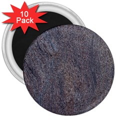 Granite Blue Brown 3  Magnets (10 Pack)  by trendistuff