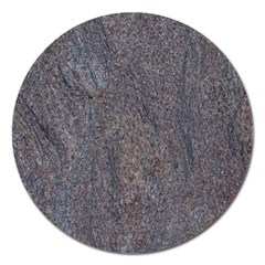 Granite Blue Brown Magnet 5  (round) by trendistuff