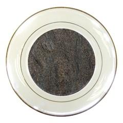 Granite Blue Brown Porcelain Plates by trendistuff