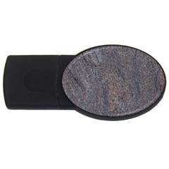 Granite Blue Brown Usb Flash Drive Oval (4 Gb)  by trendistuff