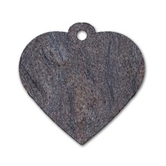 Granite Blue Brown Dog Tag Heart (one Side) by trendistuff