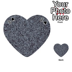 Granite Blue Black 3 Playing Cards 54 (heart)