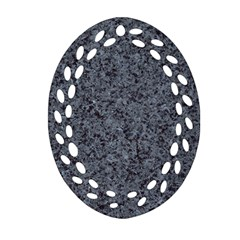 Granite Blue Black 3 Oval Filigree Ornament (2 Side)  by trendistuff