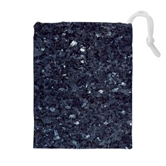 GRANITE BLUE-BLACK 1 Drawstring Pouches (Extra Large) by trendistuff