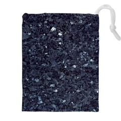 Granite Blue Black 1 Drawstring Pouches (xxl)